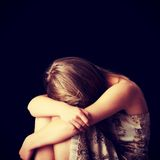 Νέα κατάθλιψη γυναικών Στοκ εικόνα με δικαίωμα ελεύθερης χρήσης