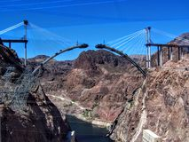 Νέα κατασκευή γεφυρών στο φράγμα Hoover Στοκ Φωτογραφίες