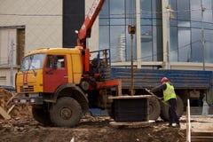 Νέα κατασκευή σιδηροδρόμων Στοκ εικόνες με δικαίωμα ελεύθερης χρήσης