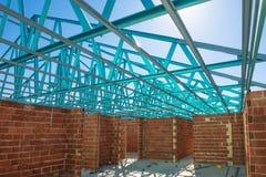 Νέα κατοικημένη κατασκευή σπιτιών τούβλου Στοκ Εικόνες