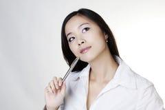 Νέα κινεζική γυναίκα Στοκ φωτογραφία με δικαίωμα ελεύθερης χρήσης