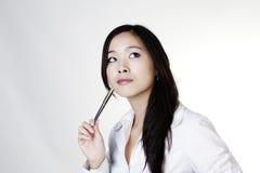 Νέα κινεζική γυναίκα Στοκ Φωτογραφίες