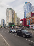 Νέα κτήρια Ekaterinburg Κέντρο πόλεων Οδός Radishchev russ Στοκ Φωτογραφία