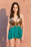 Νέα κυρία στο προκλητικό φόρεμα στοκ φωτογραφία με δικαίωμα ελεύθερης χρήσης