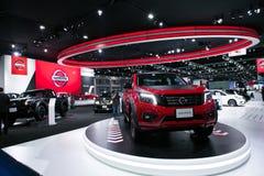 Νέα μοντέλα navera της Nissan στην επίδειξη Στοκ Εικόνες