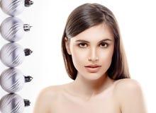 Νέα μόδα ομορφιάς πορτρέτου έτους γυναικών στοκ εικόνες με δικαίωμα ελεύθερης χρήσης