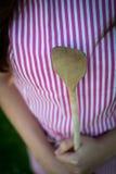 Νέα νοικοκυρά με το κουτάλι clousep Στοκ φωτογραφίες με δικαίωμα ελεύθερης χρήσης