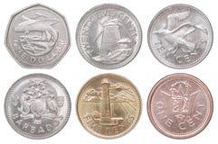 Νέα νομίσματα Μπαρμπάντος Στοκ φωτογραφία με δικαίωμα ελεύθερης χρήσης
