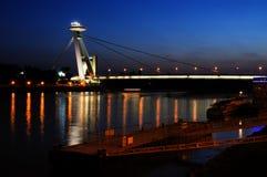 νέα νύχτα γεφυρών της Βρατι&sigm Στοκ Φωτογραφία