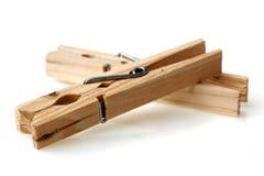 Νέα ξύλινη παλαιά καρφίτσα ενδυμάτων Στοκ Εικόνα