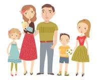 Νέα οικογένεια Γονείς και παιδιά Στοκ φωτογραφία με δικαίωμα ελεύθερης χρήσης