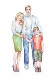 Νέα οικογένεια του παντρεμένου ζευγαριού και του γιου τους Στοκ εικόνες με δικαίωμα ελεύθερης χρήσης