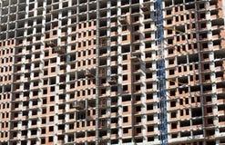 Νέα οικοδόμηση κατοικημένου κτηρίου στη διαδικασία Στοκ Φωτογραφία