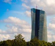 Νέα οικοδόμηση της έδρας Ευρωπαϊκής Κεντρικής Τράπεζας, Frankfur Στοκ φωτογραφία με δικαίωμα ελεύθερης χρήσης