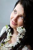Νέα ομορφιά με το άνθος άνοιξη χωρίς σύνθεση Στοκ Εικόνες