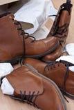 νέα παπούτσια μποτών Στοκ φωτογραφία με δικαίωμα ελεύθερης χρήσης