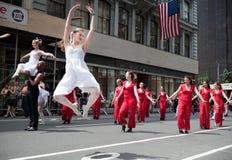 νέα παρέλαση Υόρκη χορού το στοκ εικόνες