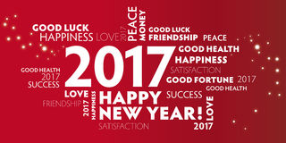 Νέα παραμονή 2017 ετών - έτη Eve2017 καλής χρονιάς 2017New σχετικά με Στοκ Εικόνες