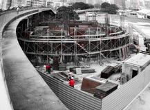 νέα περιοχή σπιτιών οικοδόμησης κτηρίου Στοκ Εικόνα