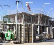 νέα περιοχή σπιτιών οικοδόμησης κτηρίου Στοκ εικόνα με δικαίωμα ελεύθερης χρήσης