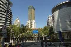Νέα πολυκατοικία στη Σαγκάη, Κίνα Στοκ εικόνα με δικαίωμα ελεύθερης χρήσης