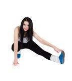 Νέα προκλητικά πόδια διάδοσης brunette Στοκ Εικόνες