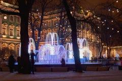 Νέα πόλη έτους ` s νύχτας Στοκ φωτογραφίες με δικαίωμα ελεύθερης χρήσης
