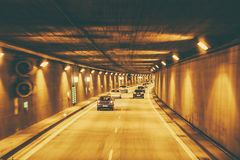 Νέα σήραγγα στους δρόμους autobahn της Γερμανίας Στοκ Εικόνες