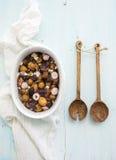 Νέα σαλάτα πατατών ψητού με το ραδίκι και μαλακός στοκ φωτογραφία με δικαίωμα ελεύθερης χρήσης
