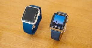 Νέα σειρά 3 ρολογιών της Apple ζωτικότητα Big Ben Στοκ φωτογραφία με δικαίωμα ελεύθερης χρήσης
