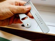 Νέα σειρά 3 ρολογιών της Apple λουρί fluoroelastomer Στοκ Εικόνα