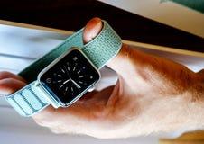 Νέα σειρά 3 ρολογιών της Apple πρόσωπο ρολογιών smartwatch Στοκ Εικόνες