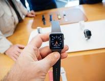 Νέα σειρά 3 ρολογιών της Apple ρολόι ταχυμέτρων Στοκ Φωτογραφία