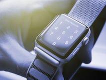 Νέα σειρά 3 ρολογιών της Apple passcode κωδικός πρόσβασης Στοκ Φωτογραφία