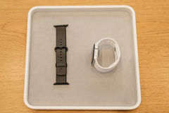 Νέα σειρά 2 ρολογιών της Apple Στοκ φωτογραφία με δικαίωμα ελεύθερης χρήσης