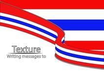 Νέα σημαία Ταϊλανδός κειμένων Στοκ Εικόνες