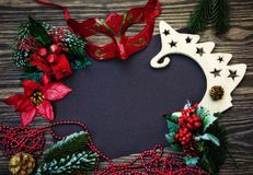 Νέα σημείωση έτους με την αγάπη και τα συγχαρητήρια στοκ φωτογραφίες