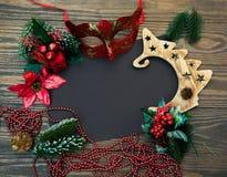 Νέα σημείωση έτους με την αγάπη και τα συγχαρητήρια στοκ φωτογραφία με δικαίωμα ελεύθερης χρήσης