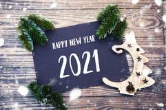 Νέα σημείωση έτους με την αγάπη και τα συγχαρητήρια 2021 στοκ φωτογραφία με δικαίωμα ελεύθερης χρήσης