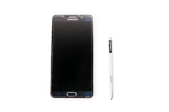 Νέα σημείωση 5 γαλαξιών Smartphone Samsung με τη μάνδρα του S Στοκ Φωτογραφίες