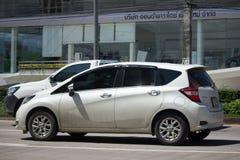 Νέα σημείωση της Nissan αυτοκινήτων Eco Στοκ Φωτογραφία