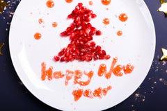 Νέα συγχαρητήρια έτους στοκ εικόνα με δικαίωμα ελεύθερης χρήσης