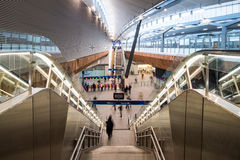Νέα συμβολή ποταμών στο σταθμό γεφυρών του Λονδίνου Στοκ Εικόνες