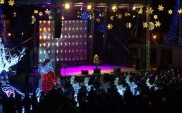 Νέα συναυλία παραμονής έτους Στοκ εικόνα με δικαίωμα ελεύθερης χρήσης
