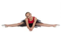 Νέα συνεδρίαση ballerina στο πάτωμα Στοκ εικόνες με δικαίωμα ελεύθερης χρήσης