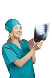 Νέα σωστή διάγνωση νοσοκόμων. Θετική φωτογραφία Στοκ Εικόνες