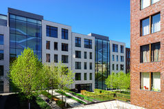 Νέα σύγχρονα κτήρια για τα διαμερίσματα, Μόσχα Στοκ εικόνες με δικαίωμα ελεύθερης χρήσης