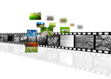 Νέα τεχνολογία κινηματογράφων Στοκ Εικόνα