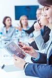 Νέα τεχνολογία στην επιχειρησιακή διάσκεψη Στοκ Εικόνες