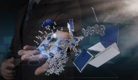 Νέα τεχνολογία στο χέρι Στοκ Εικόνες